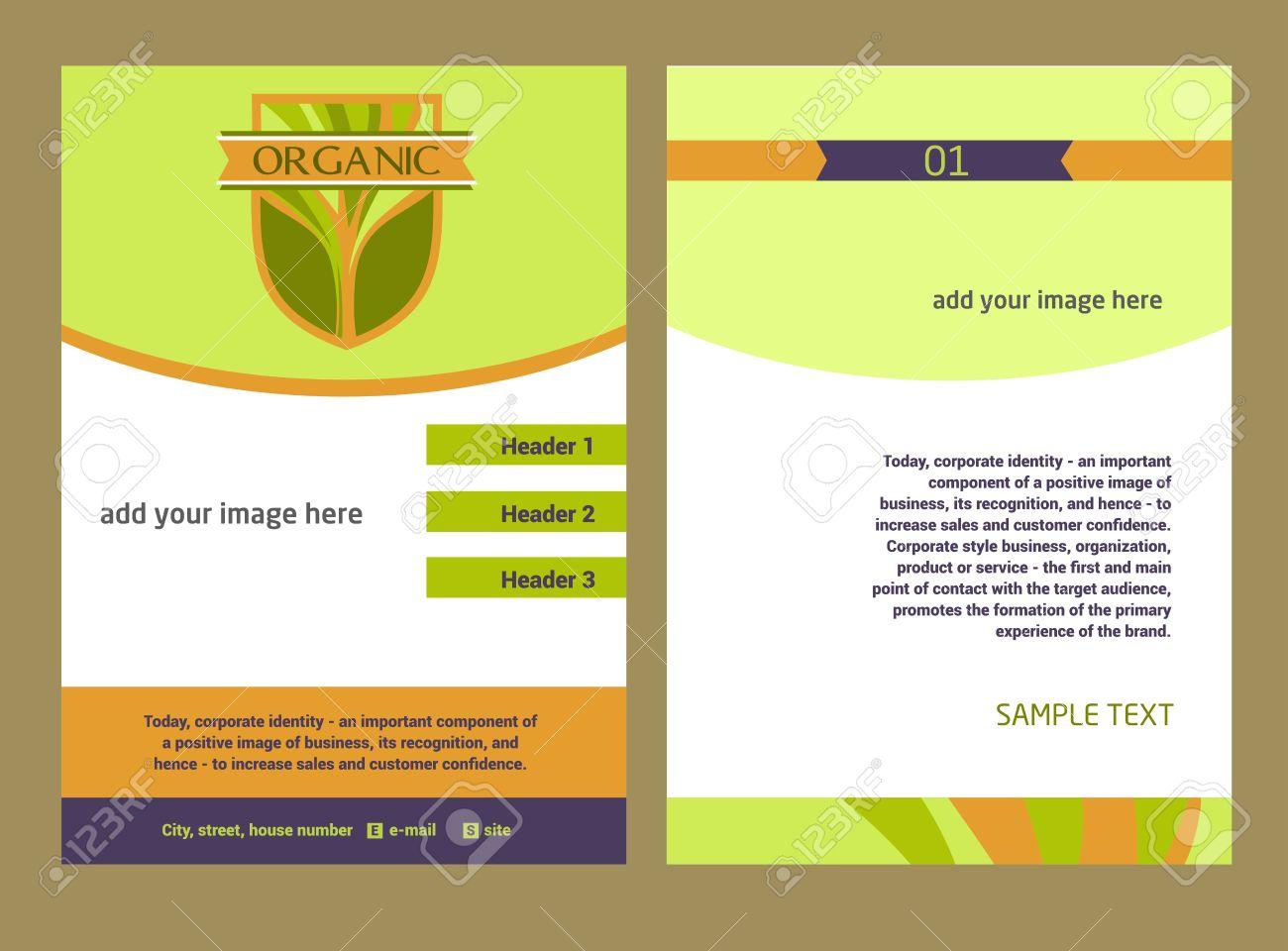 brochure flyer template vecteur de conception en format a 36378730 brochure flyer template vecteur de conception en format a4 concevoir avec l image d un arbre les pro banque d images jpg