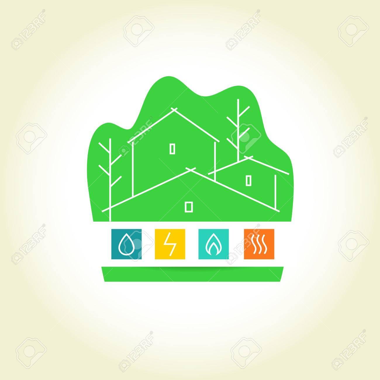 Eco Friendly Construction Template Vector Logo For A Construction Company Eco Friendly