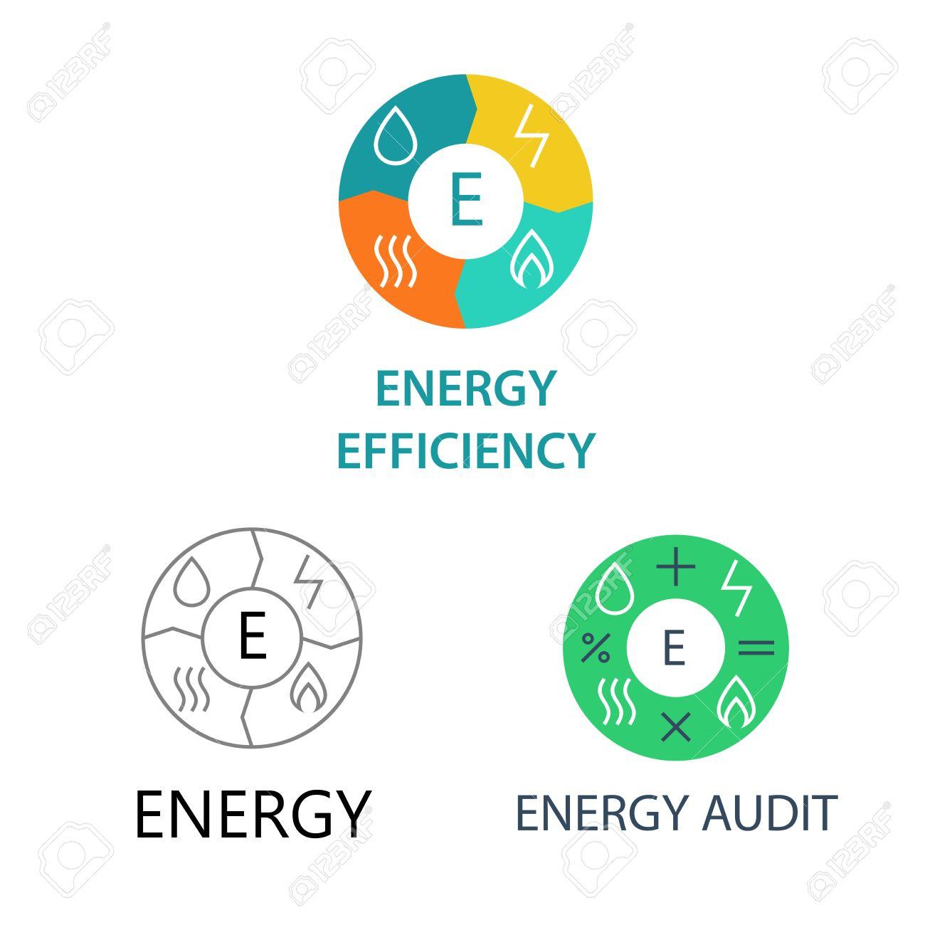 Establecer Logos Vector De Plantilla Para Las Empresas De Energía ...