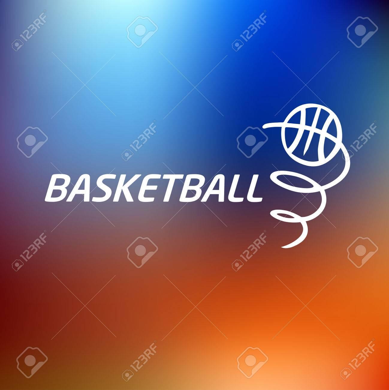77de7ba899874 Logo Basketball.Template Vector Logo. La Pelota Está En Movimiento ...