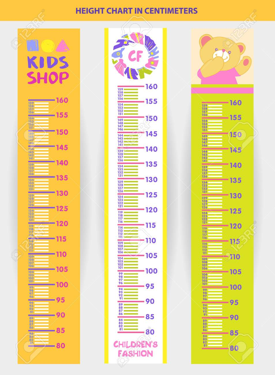 worksheet Measuring With Centimeters vector illustration stadiometer for children measuring in centimeters stock 57120892