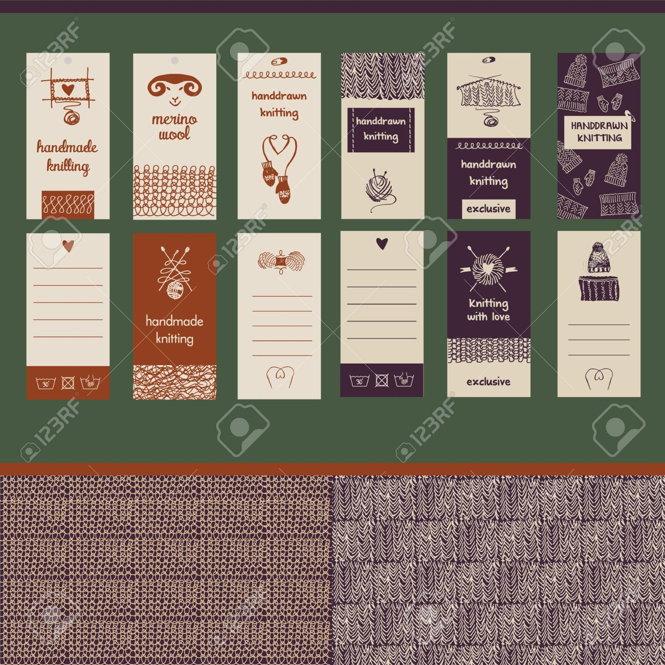 Hand drawn vector illustration vintage lettering business card hand drawn vector illustration vintage lettering business card for wool handmade shop market magicingreecefo Image collections