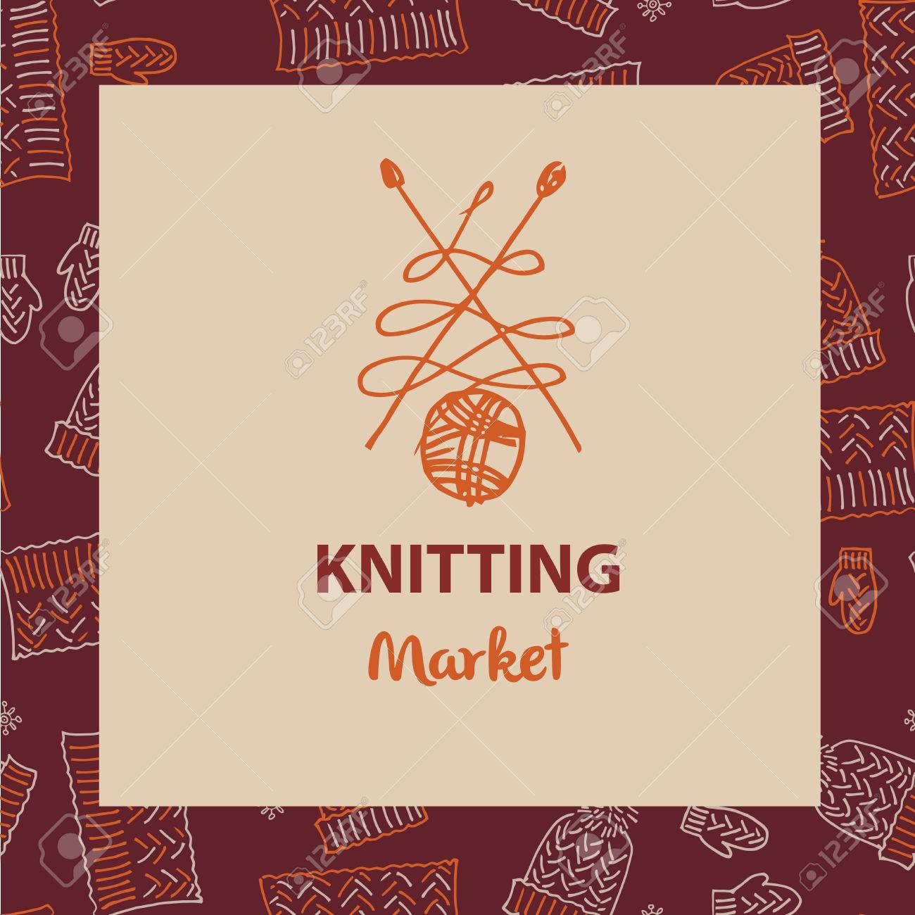 Crafts market knitting with love element of corporate identity element of corporate identity banner card for colourmoves
