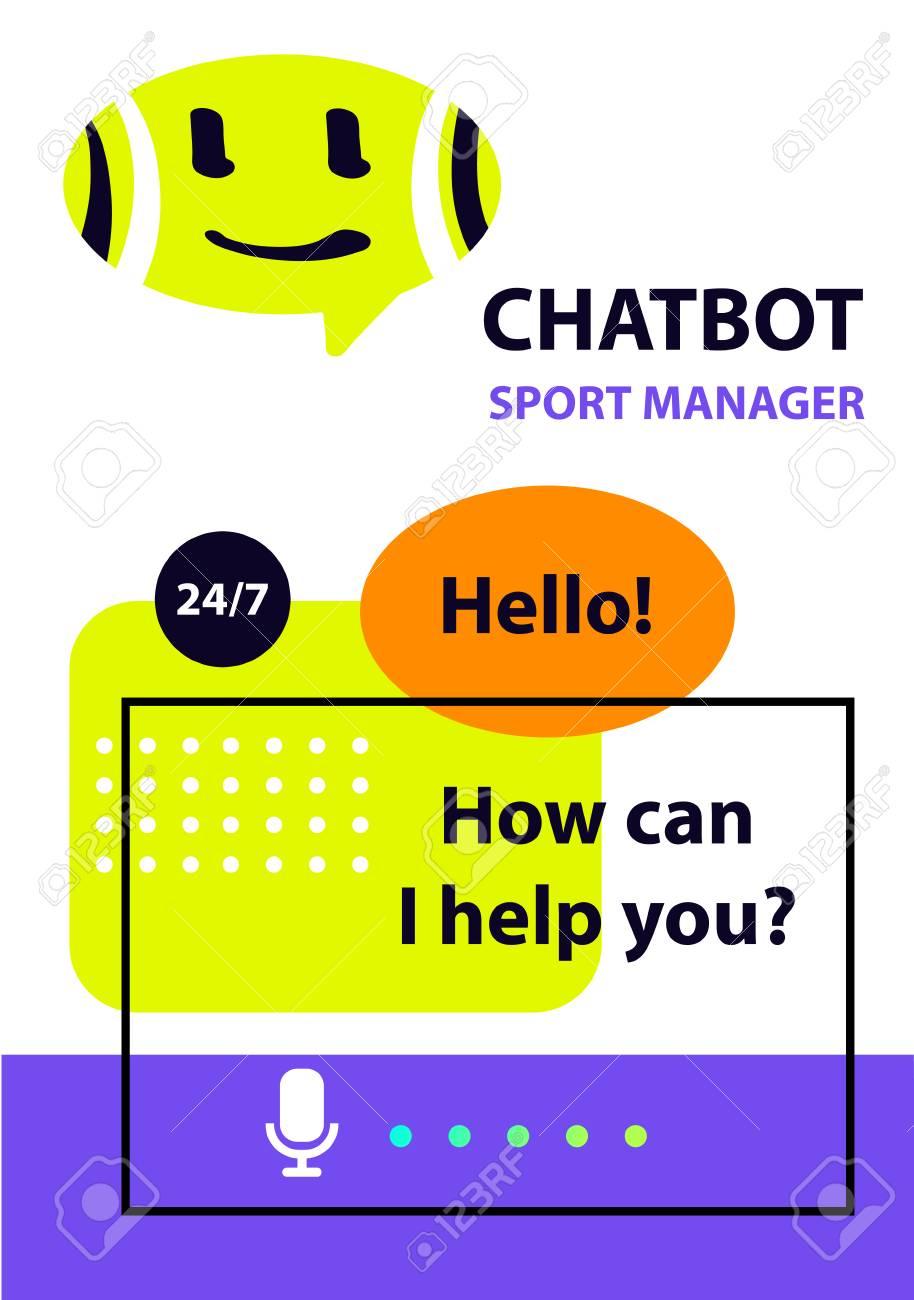 Sport manager concept robot chatbot sketch head avatar  Voice