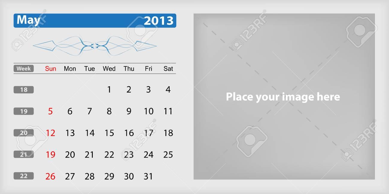 Calendar 2013 may Stock Vector - 16032941