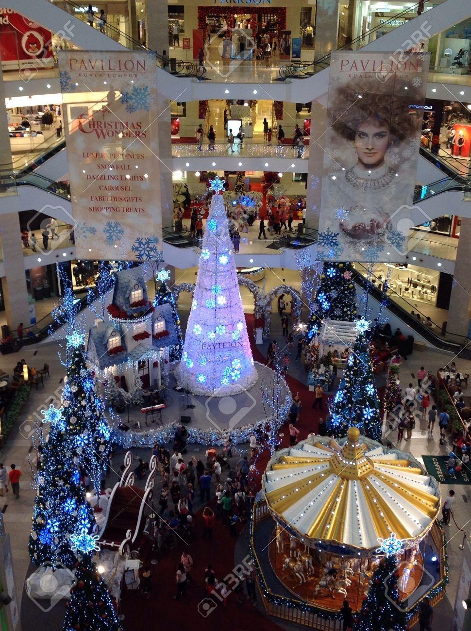 Adornos Navidenos En El Centro Comercial Pavilion Kuala Lumpur - Centro-navideos