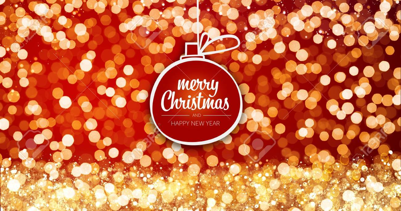 Sparkling gold and silver xmas lights with merry christmas and sparkling gold and silver xmas lights with merry christmas and happy new year greeting message ball m4hsunfo