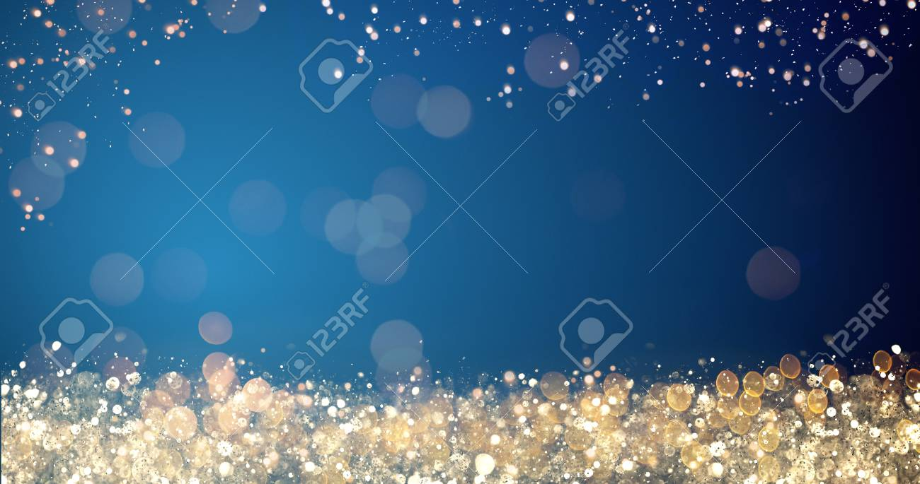 Golden and silver xmas lights on blue background for merry christmas golden and silver xmas lights on blue background for merry christmas or season greetings message m4hsunfo