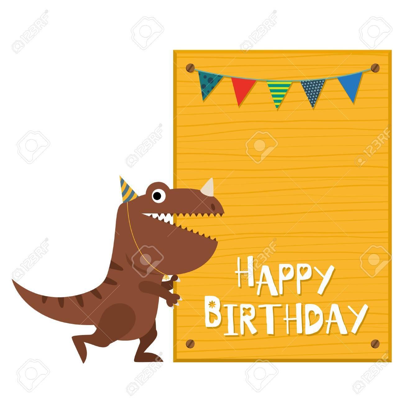 Tarjeta De Invitación De Los Dinosaurios