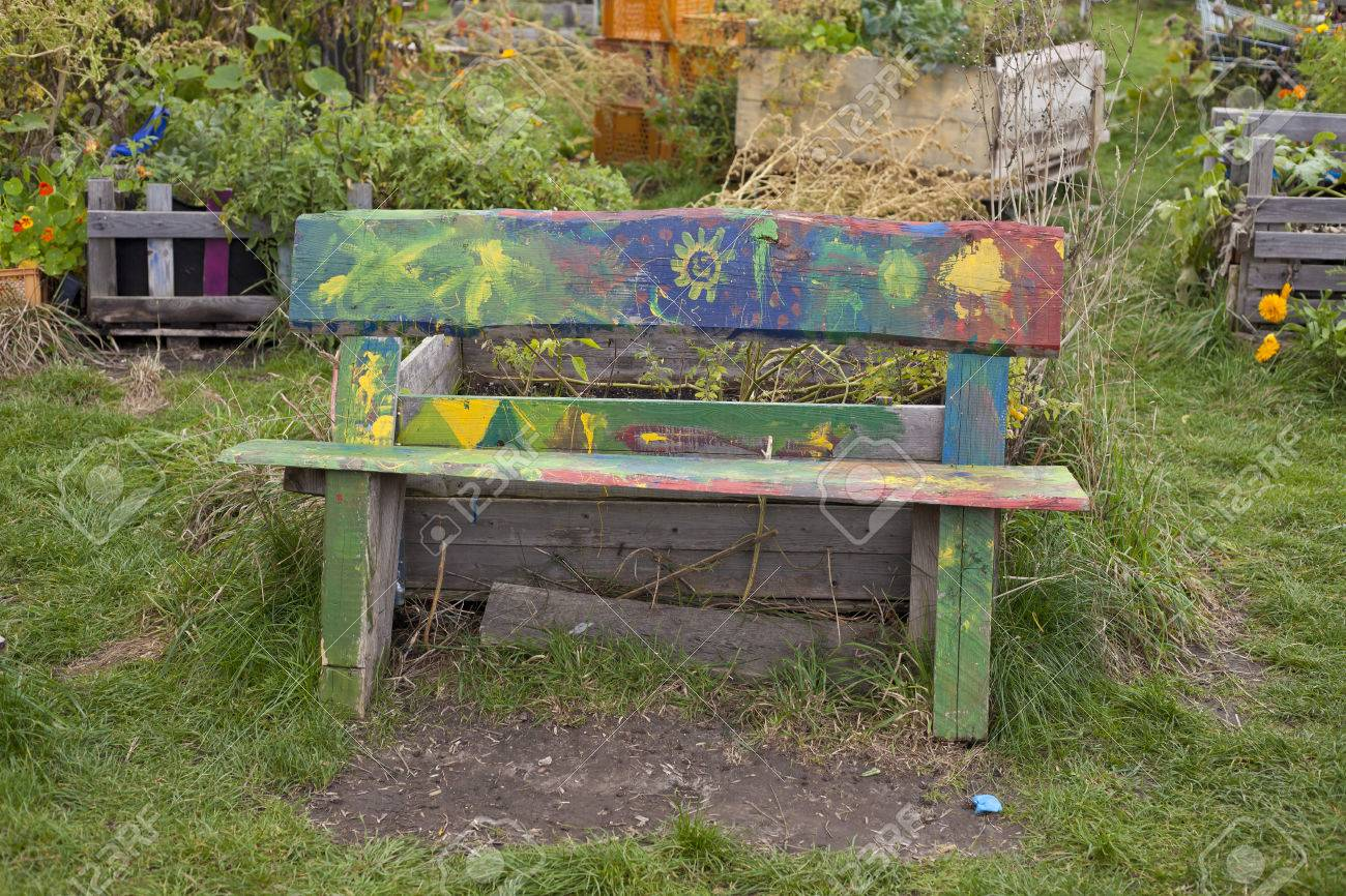 Groovy Wooden Old Bench In Public Garden With Nice Kid Cjindustries Chair Design For Home Cjindustriesco