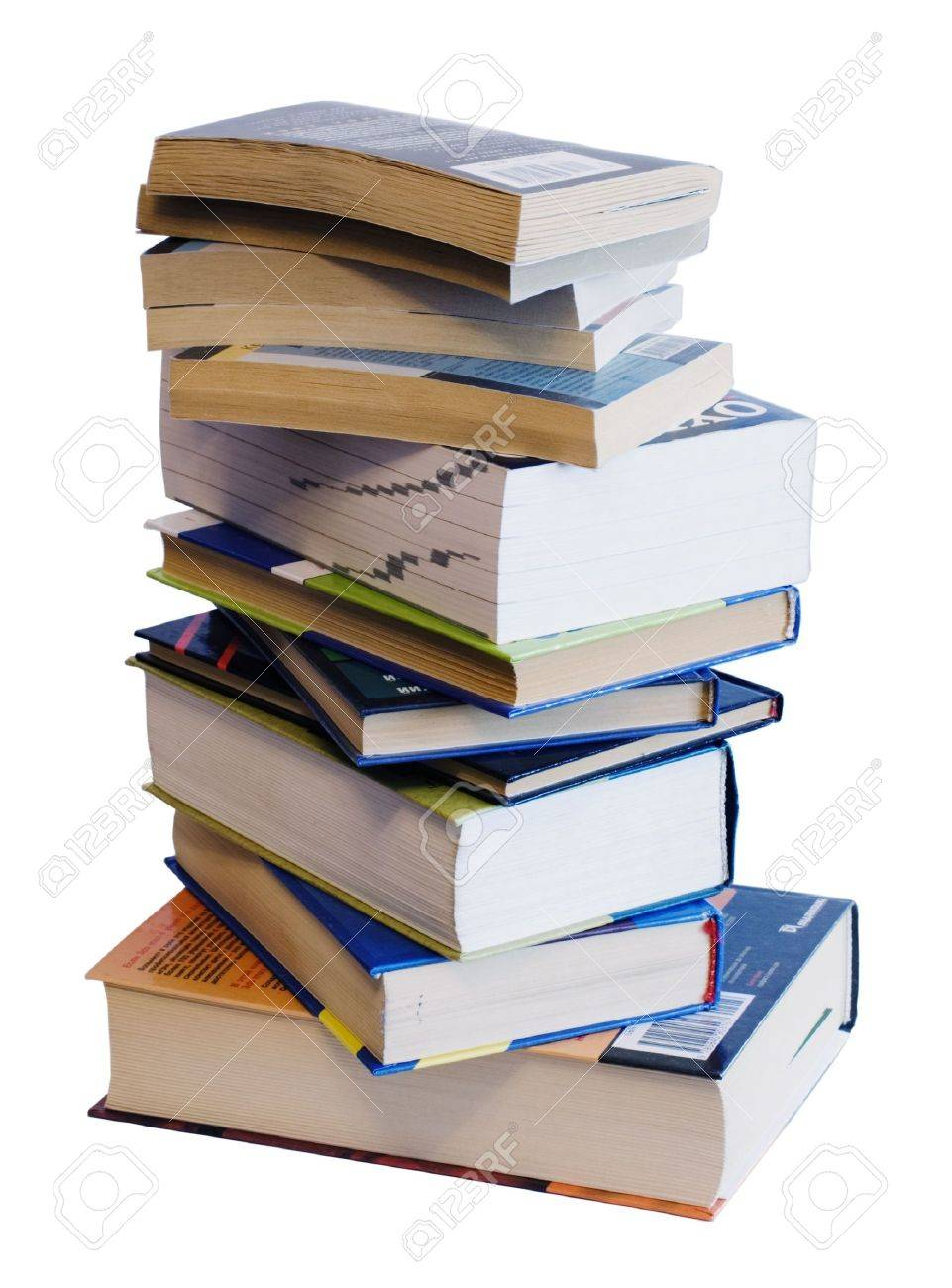 Heap of books of different colors and size Stock Photo - 2595860
