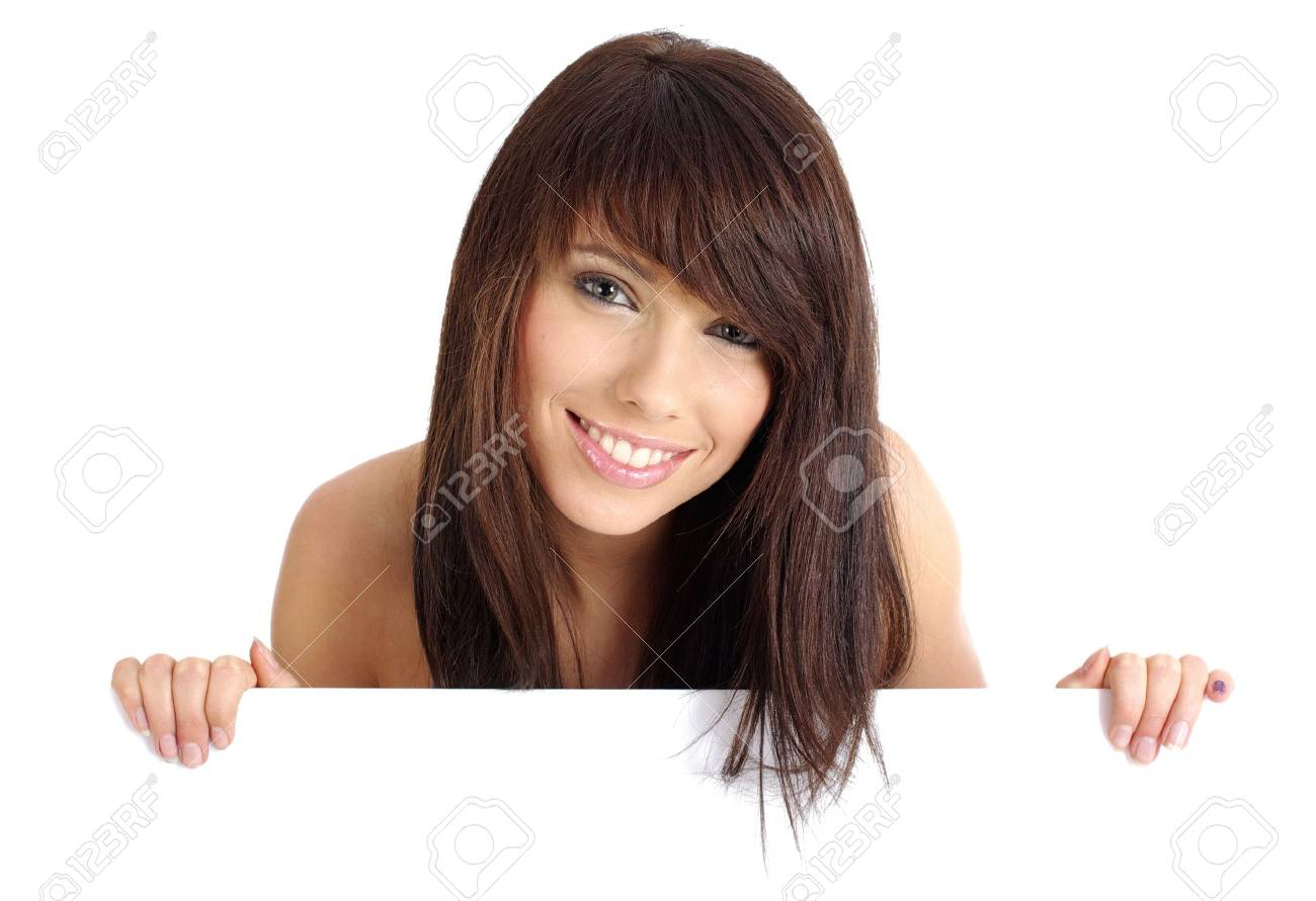 woman and promotion  board Stock Photo - 5371600