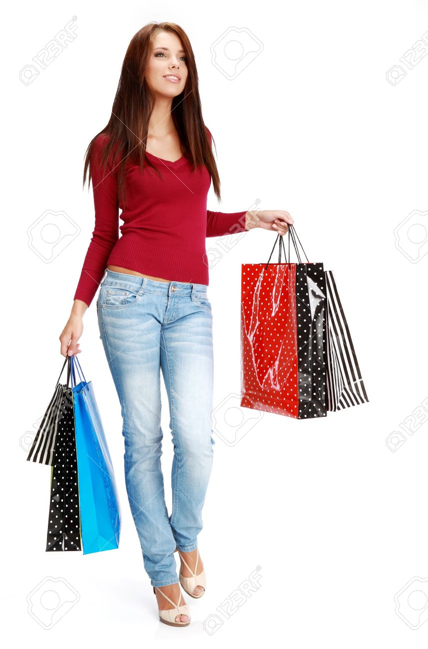 sexy shopping girl Stock Photo - 7762502