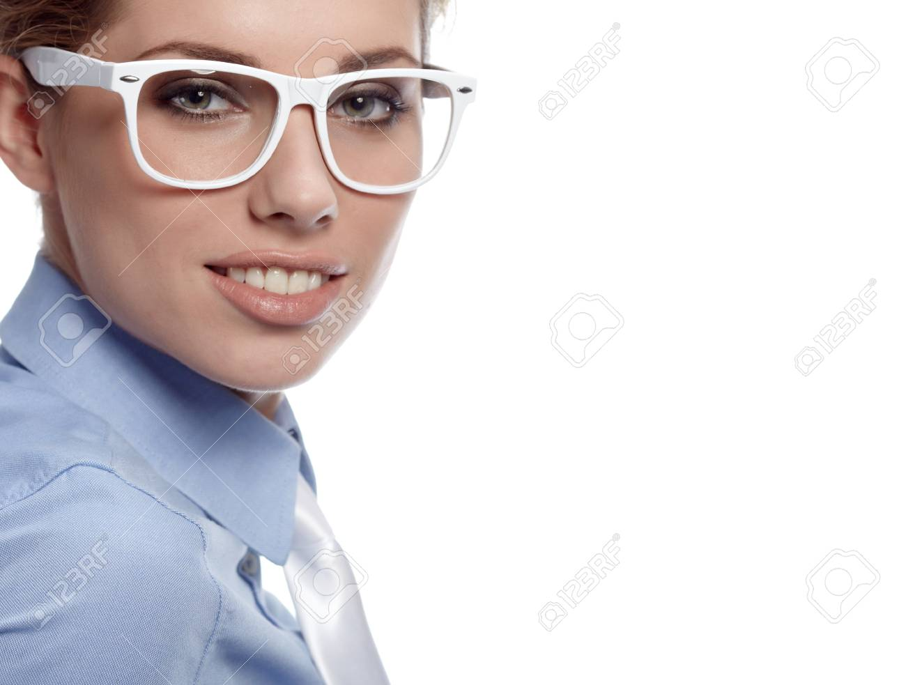 business woman in glasses Stock Photo - 7887188