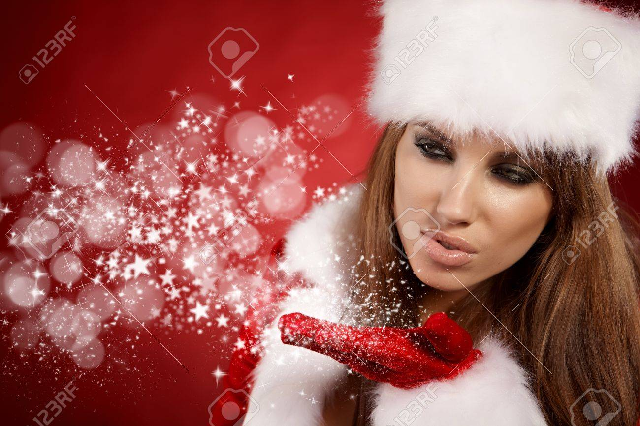 christmas woman Stock Photo - 8063340