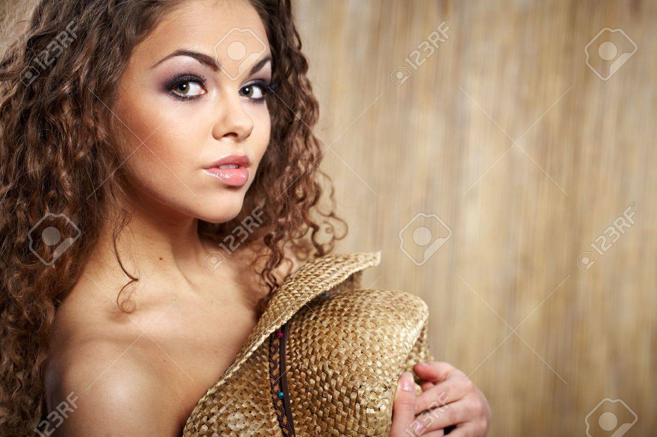 sexy woman with cowboy hat Stock Photo - 9254938