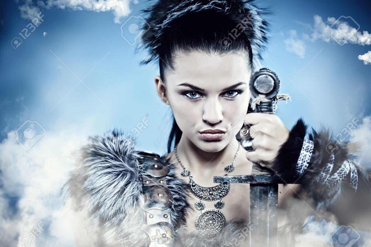 Warrior woman. Fantasy fashion idea. Stock Photo - 11073015