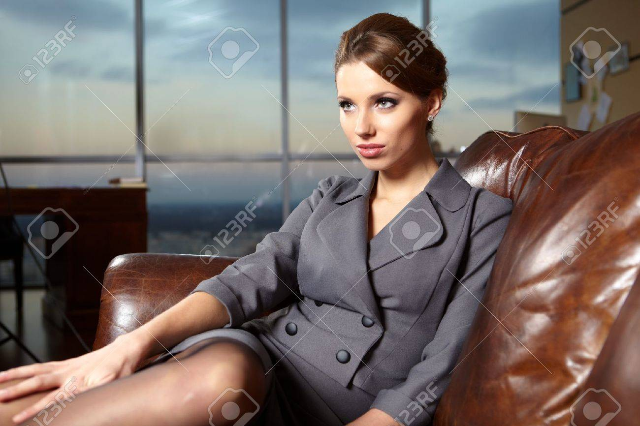 business woman in modern glass interior Stock Photo - 11800222