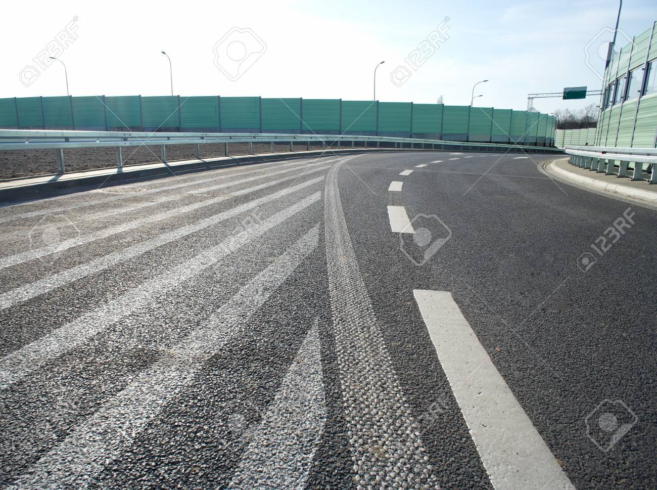 Noise barrier wall on a highway Stock Photo - 12927189