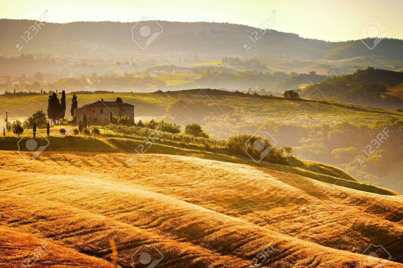 View of typical Tuscany landscape Stock Photo - 14220671
