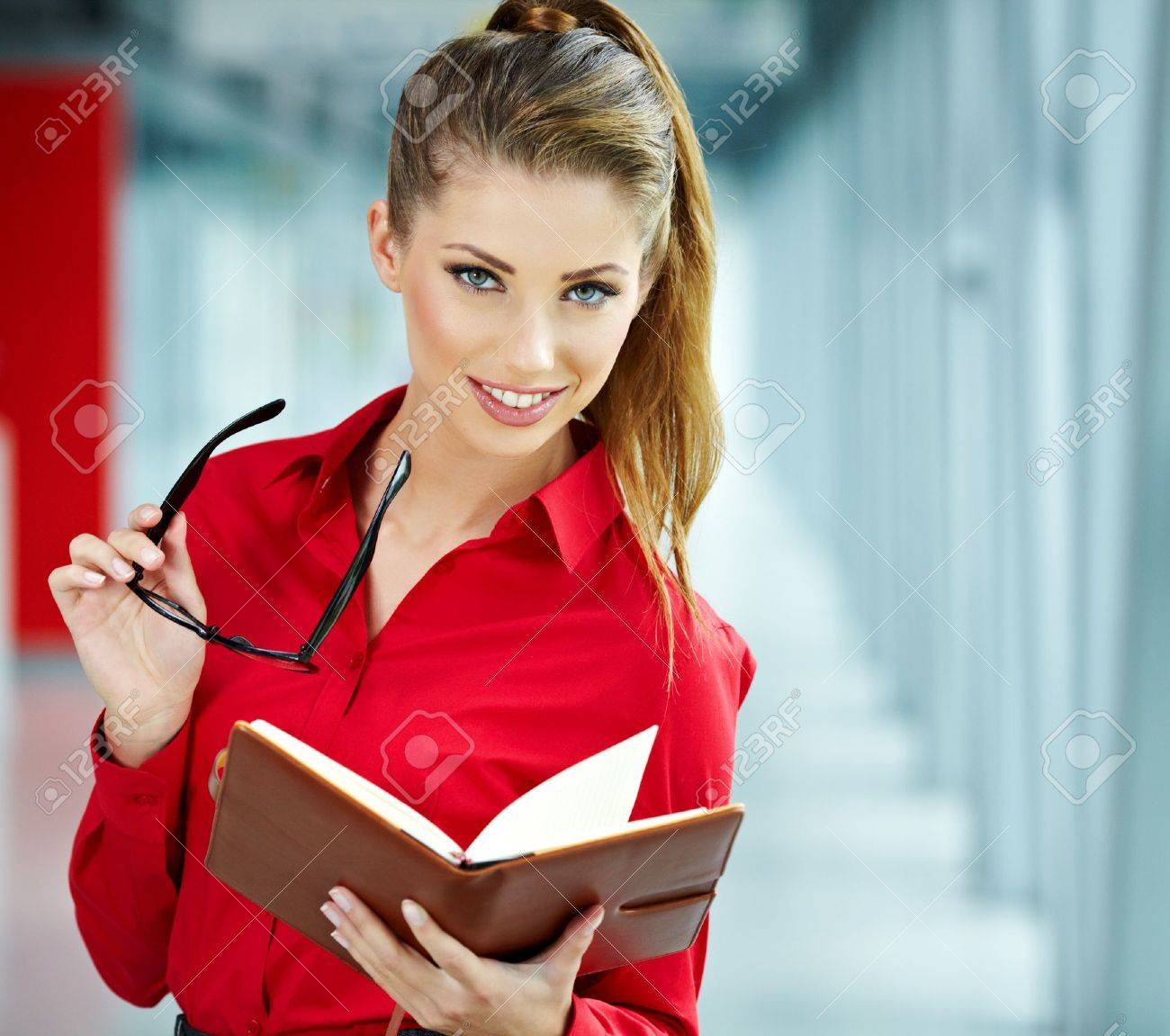 Modern business woman in the office with copy space Stock Photo - 15256440