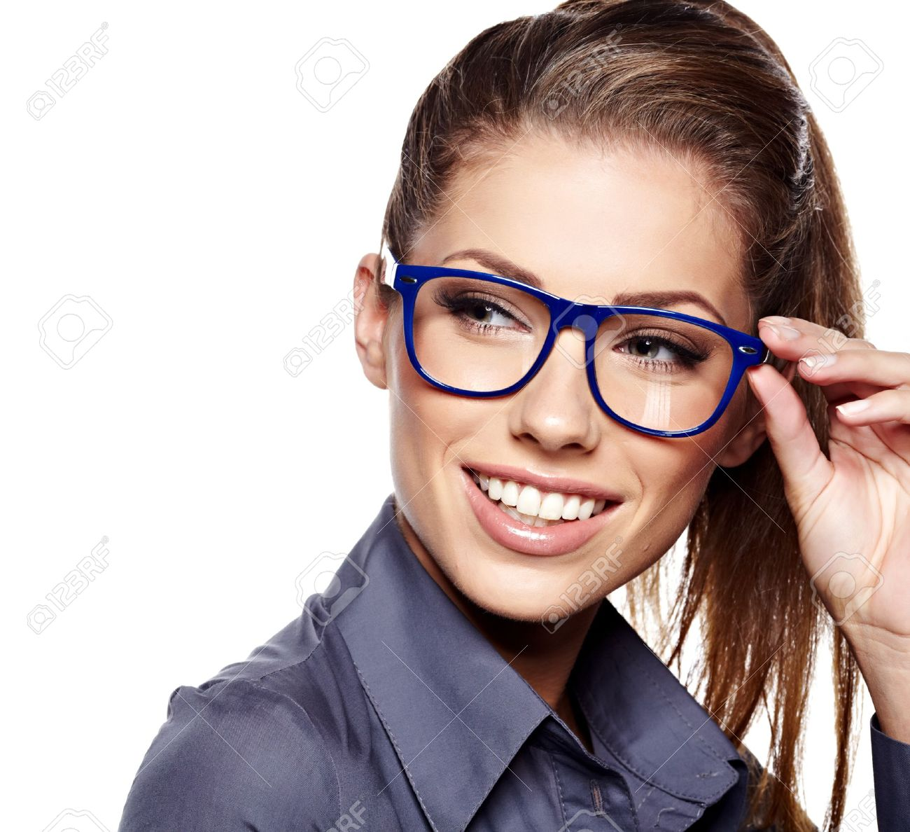 business woman in glasses Stock Photo - 15314010