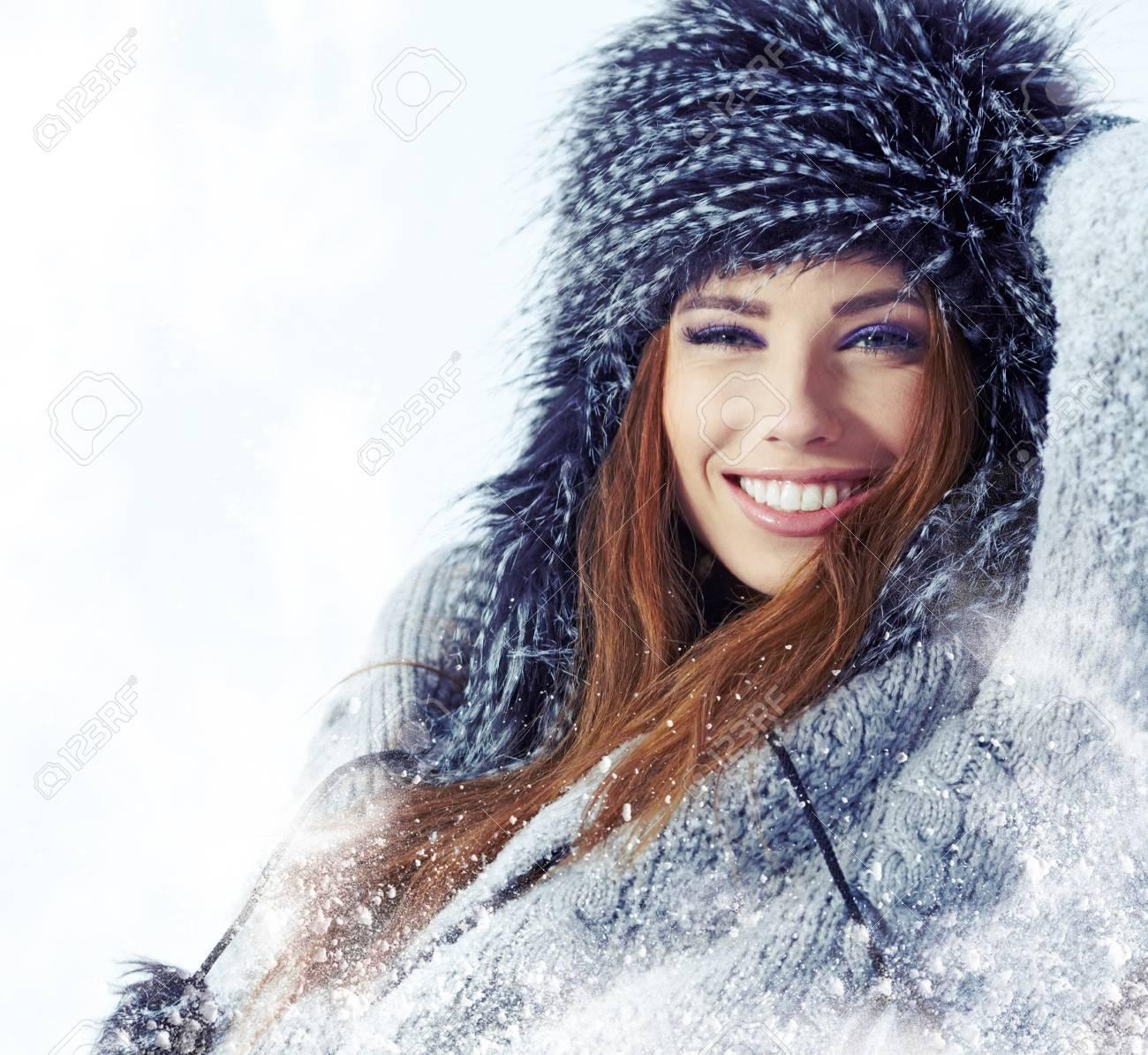WInter woman portrait outdoor Stock Photo - 17130057