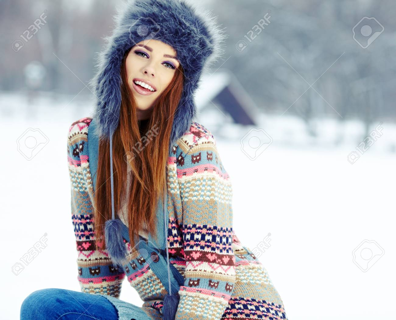 WInter woman portrait outdoor Stock Photo - 17130073