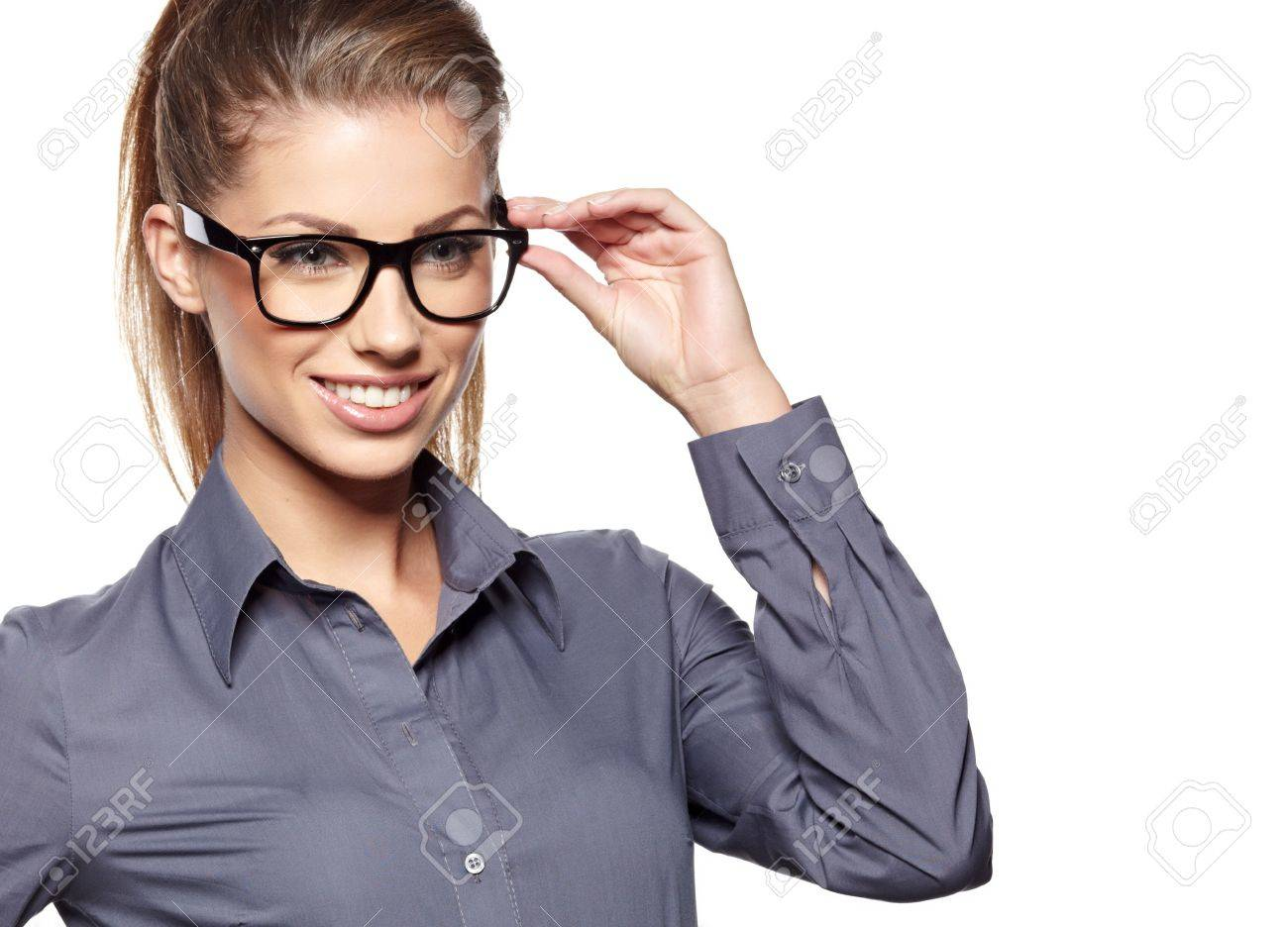 eyewear glasses  Eyewear Glasses Woman Closeup Portrait Woman Wearing Glasses ...