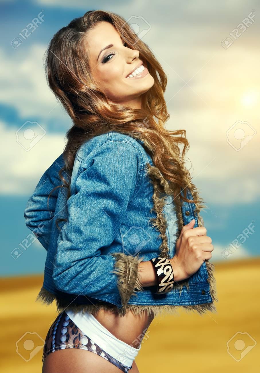 Portrait of a beautiful woman in bikini Stock Photo - 17383612