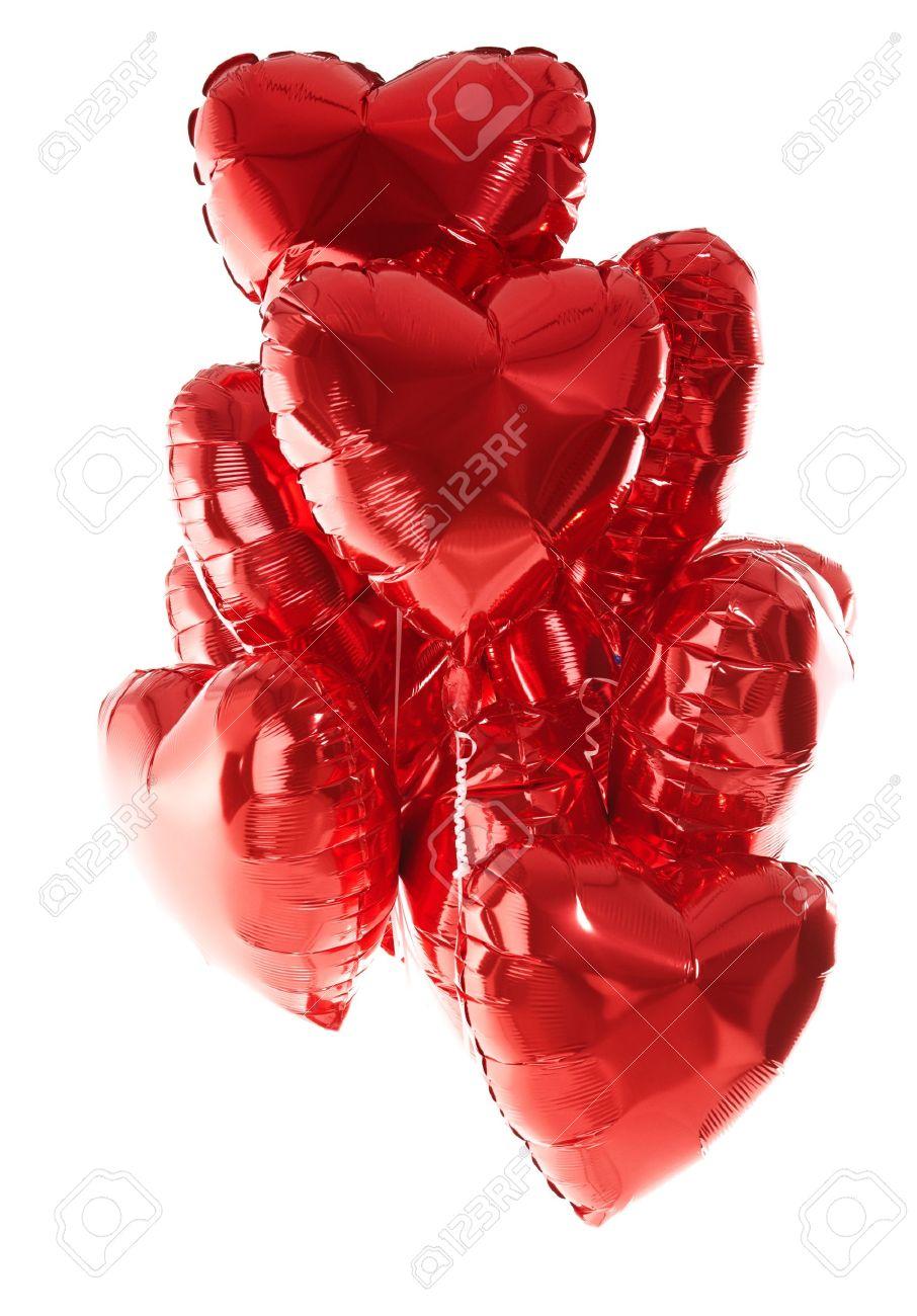 Ballons De Joyeux Anniversaire Coeur Parti Amour Décoration Rouge Saint Valentin