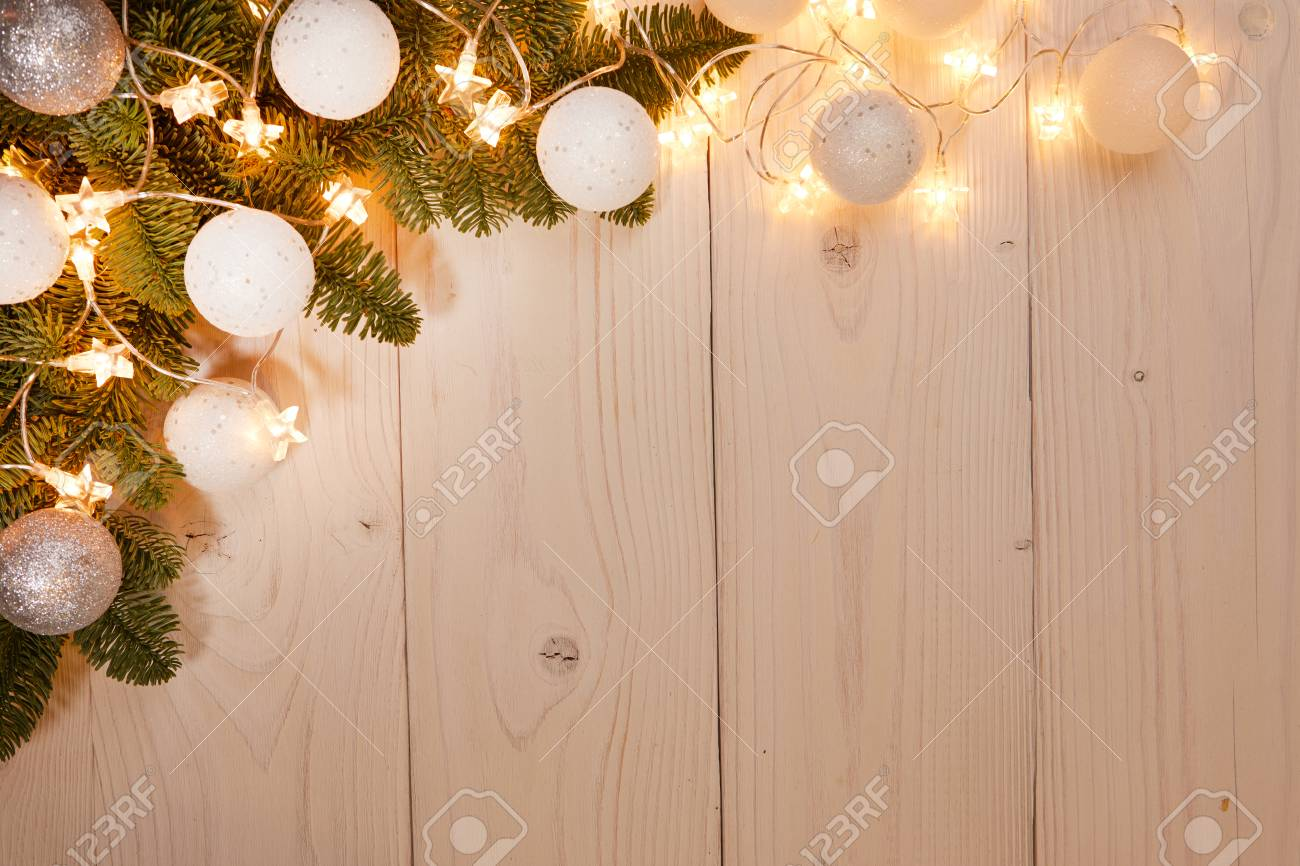 Christmas Holiday Background.Christmas Holiday Background With Wooden Celebration Decoration