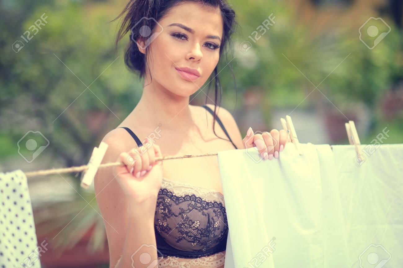 Girls touching bare man