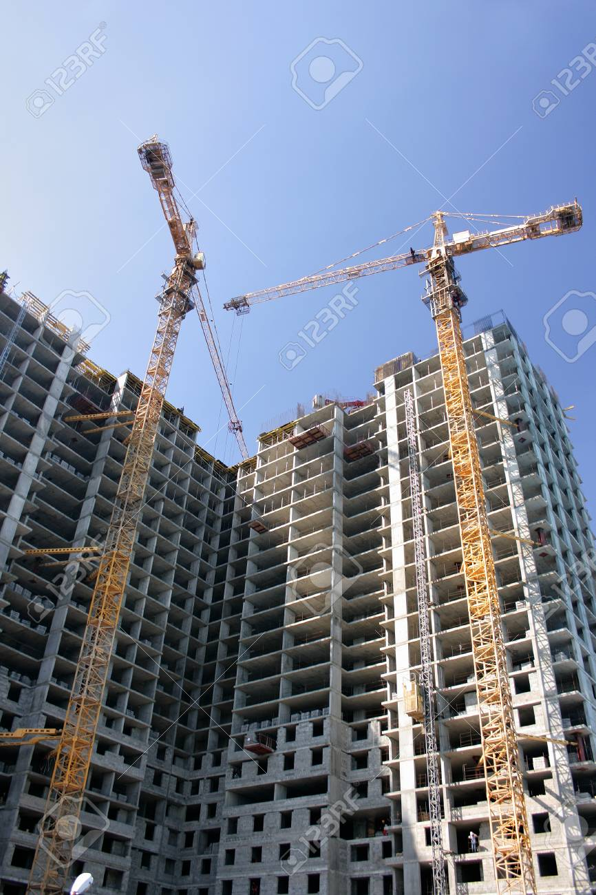 Construction of the modern multistory residential construction Stock Photo - 1483752