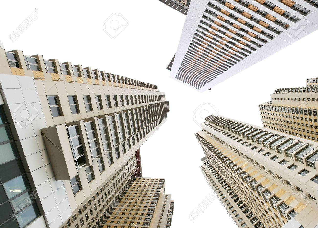 Modern apartment buildings isolated over white background Stock Photo - 3829742