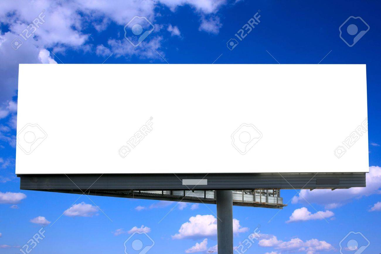 Blank billboard against blue sky, put your own text here Stock Photo - 3865447