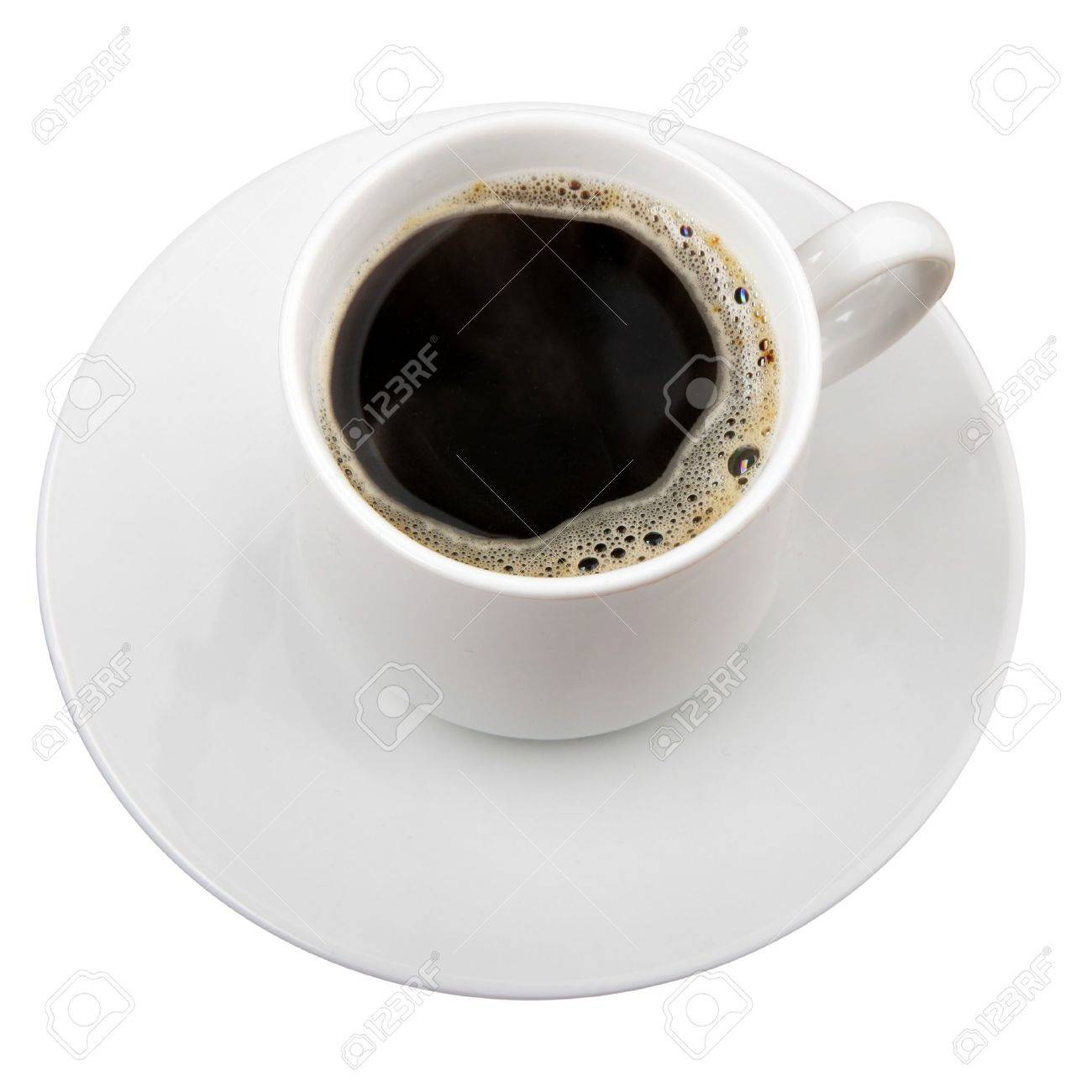 Cup of coffee isolated over white background Stock Photo - 4285105