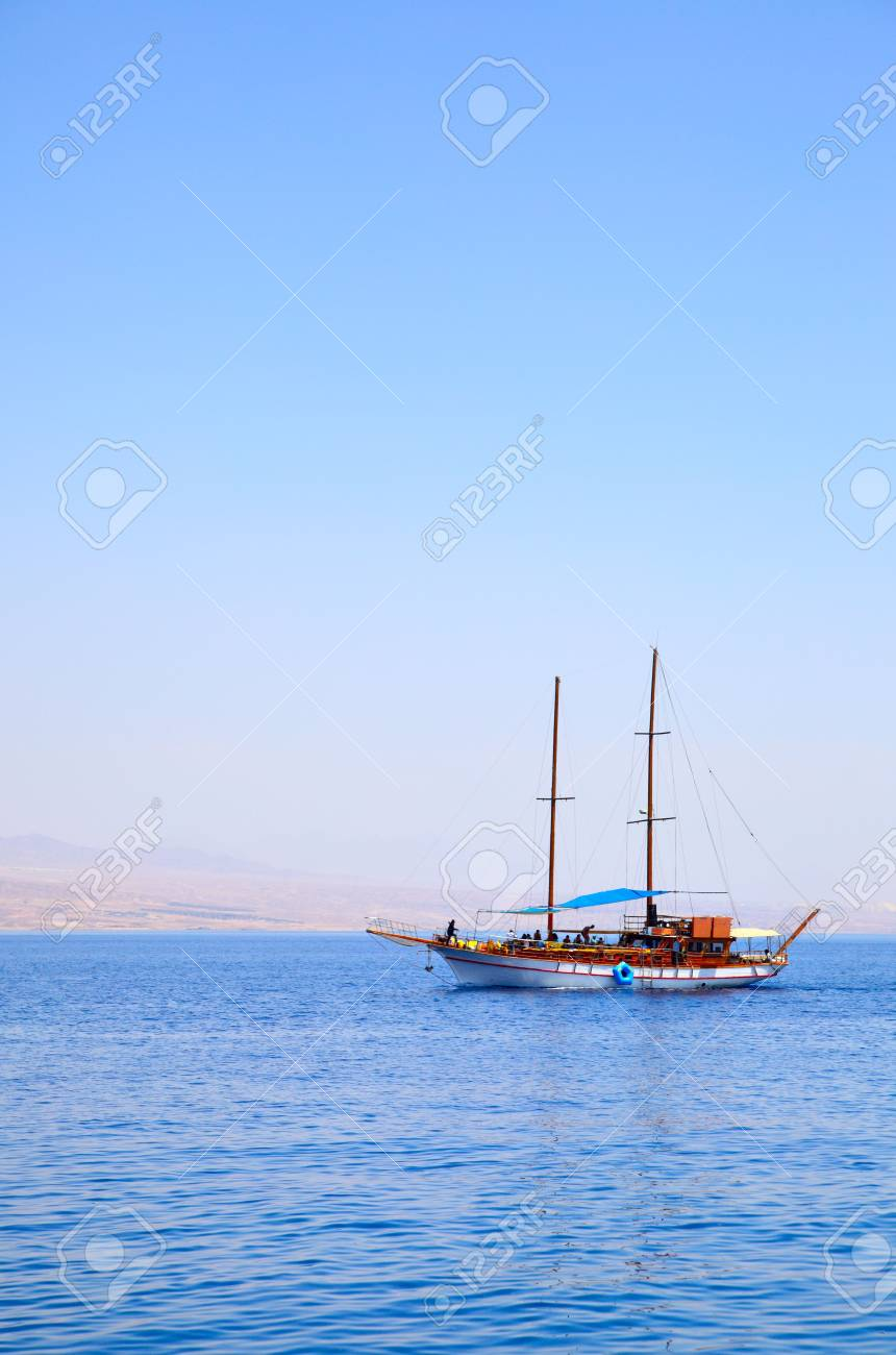 White sailing yacht at the sea Stock Photo - 4979848