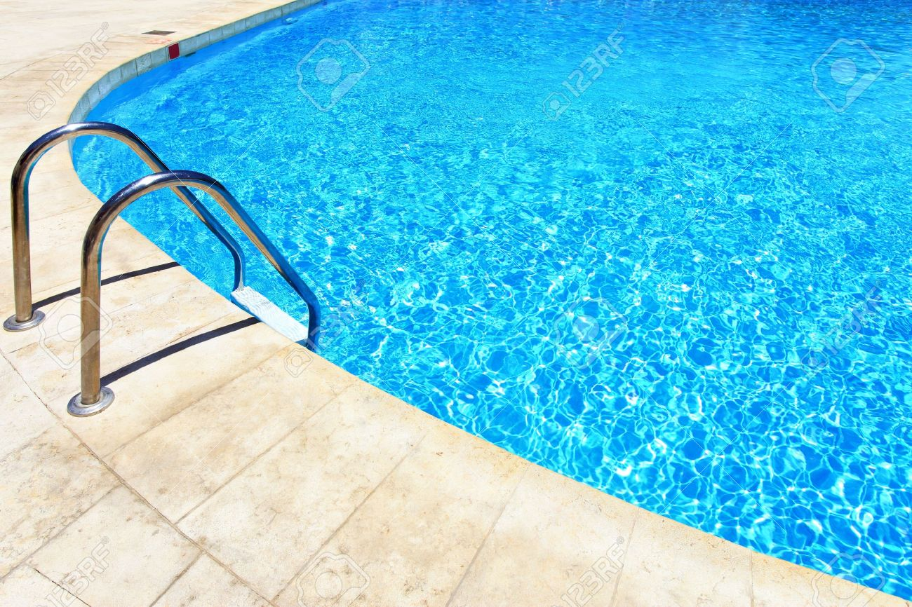 Swimming pool with stair at hotel close up Stock Photo - 5025798