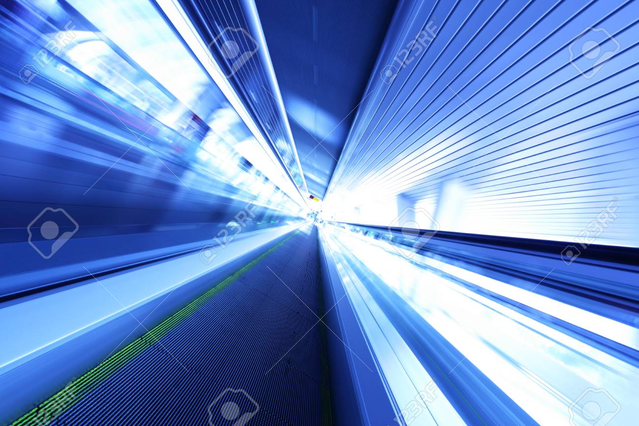 Escalator in motion at modern business center Stock Photo - 6233894