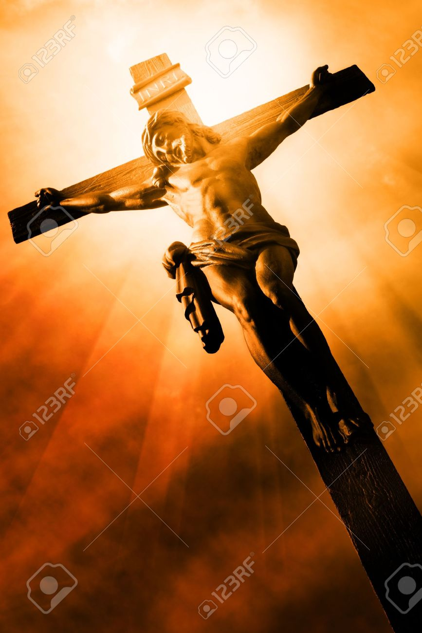 the crucifixion the jesus on the cross stock photo picture and