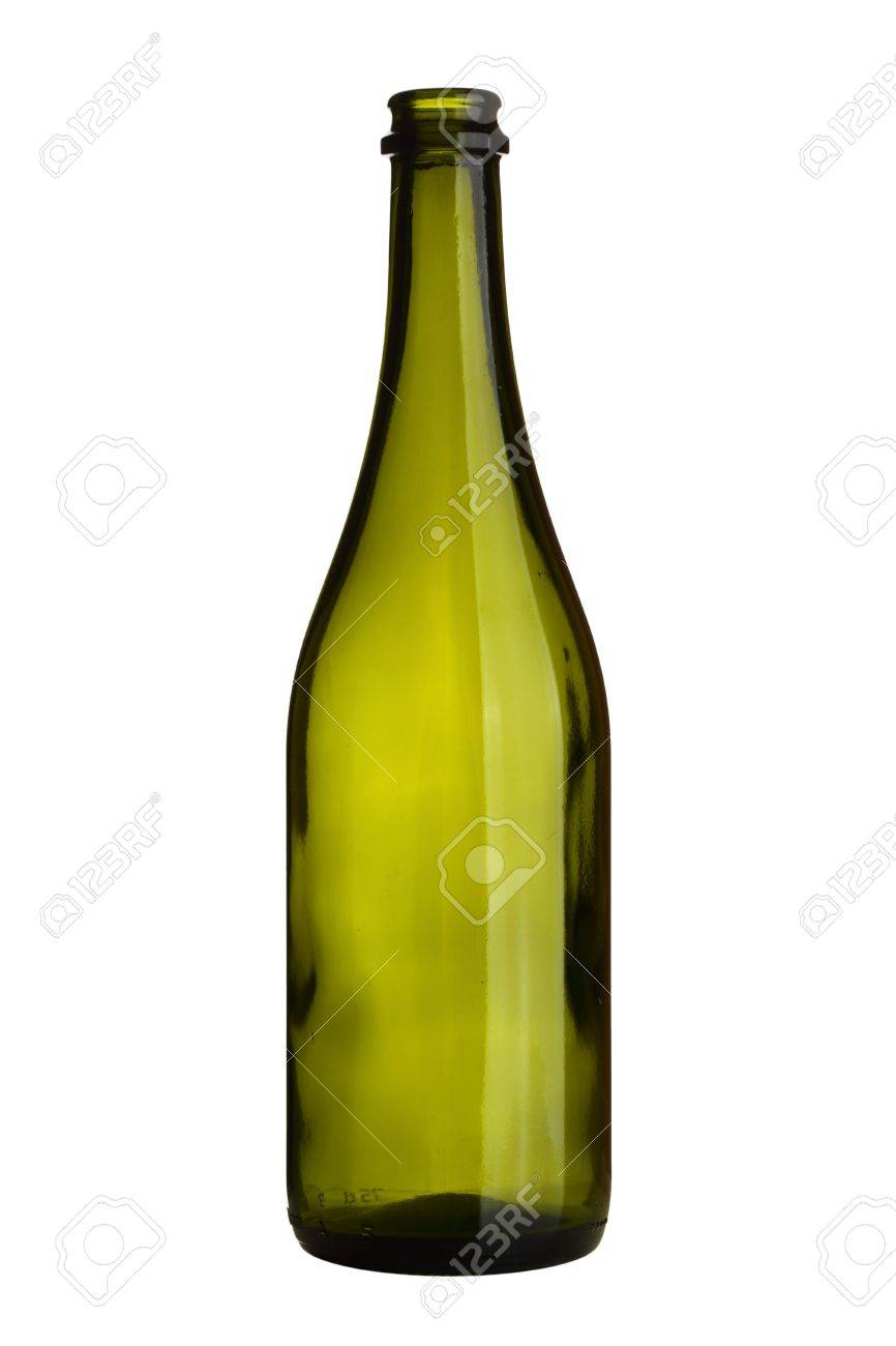 Superior Bouteille De Vin Vide #9: Bouteille De Vin Vide Isolé Sur Fond Blanc Banque Du0027images - 6708202