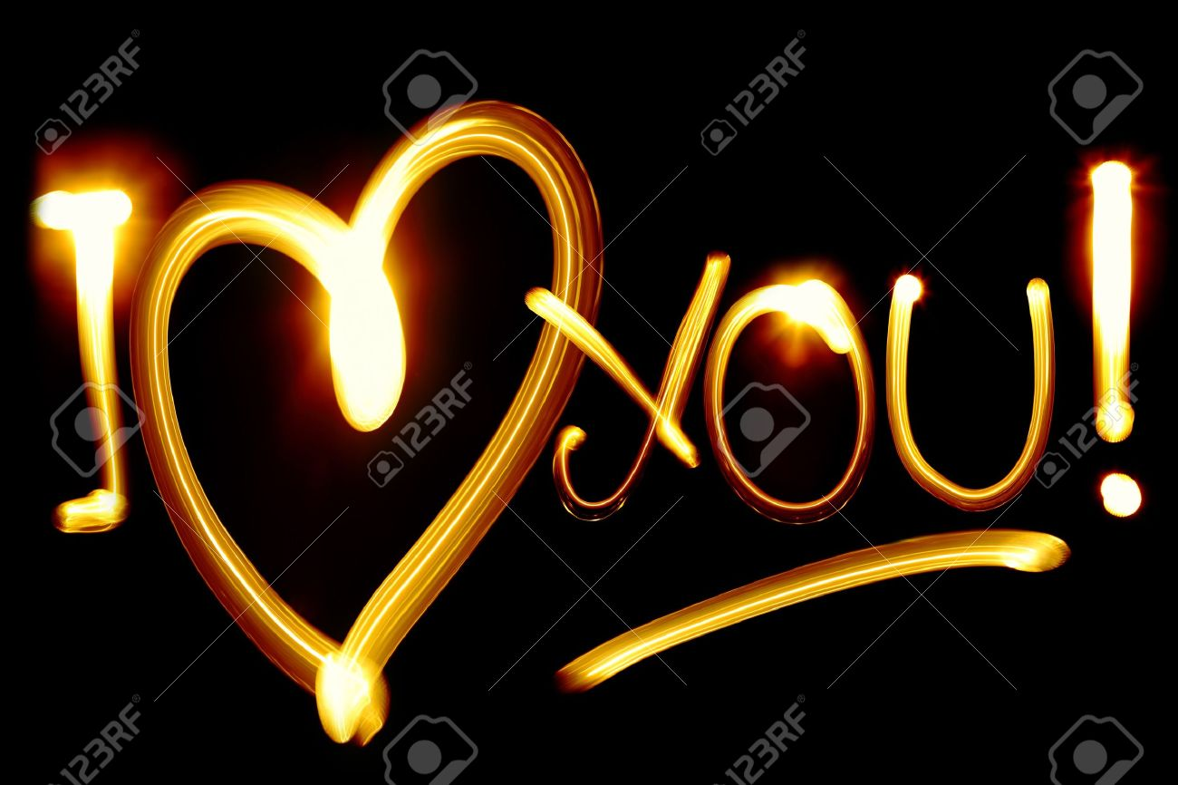 I love you stock photos royalty free business images i love you phrase created by light over black background biocorpaavc