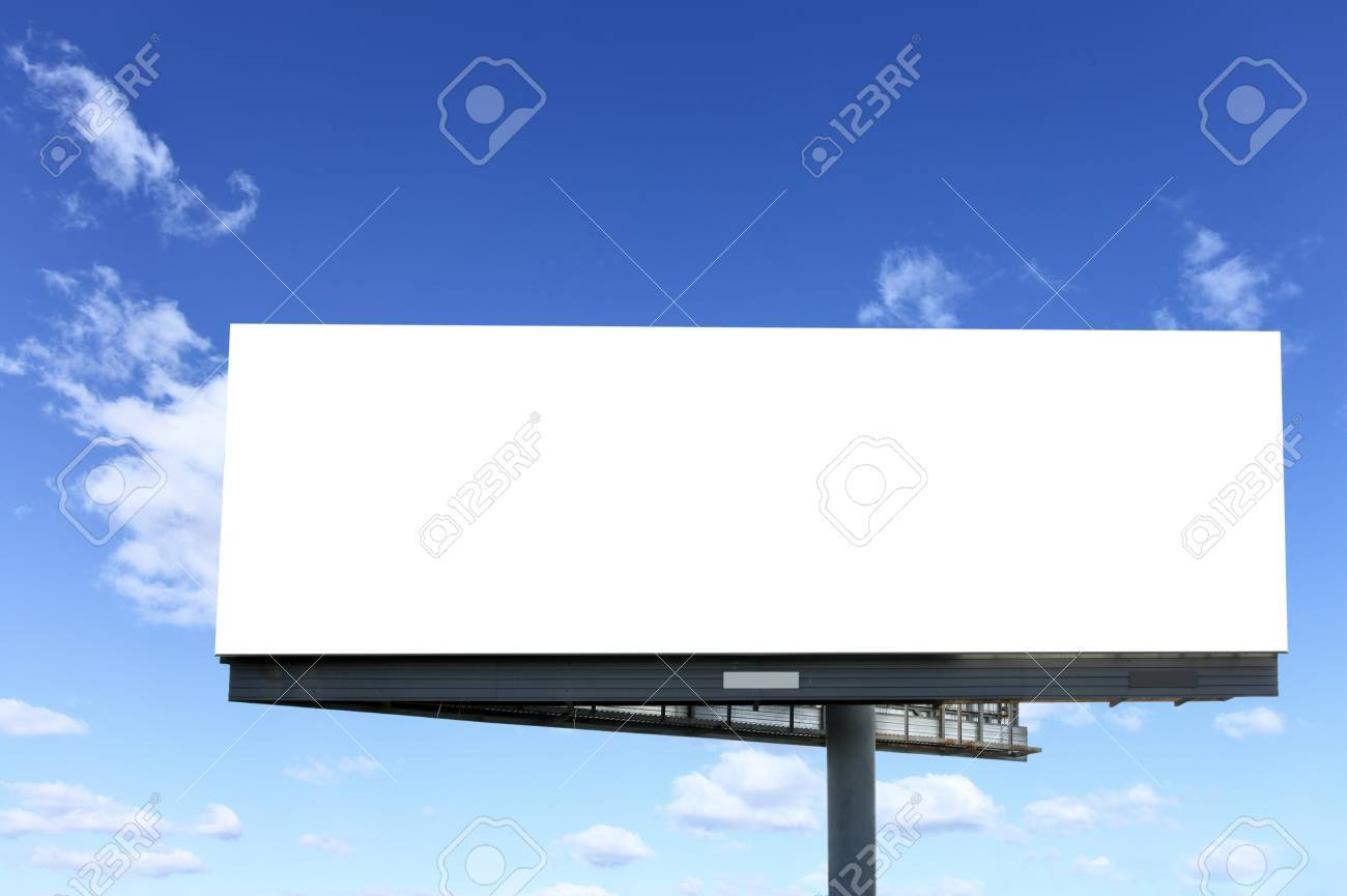 Blank billboard against blue sky, put your own text here Stock Photo - 7473198