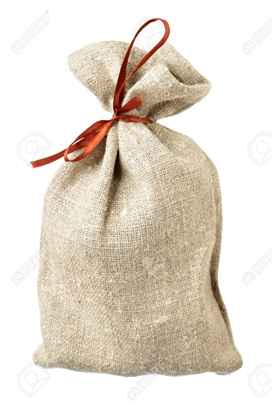 Small sack isolated over the white background Stock Photo - 8242907