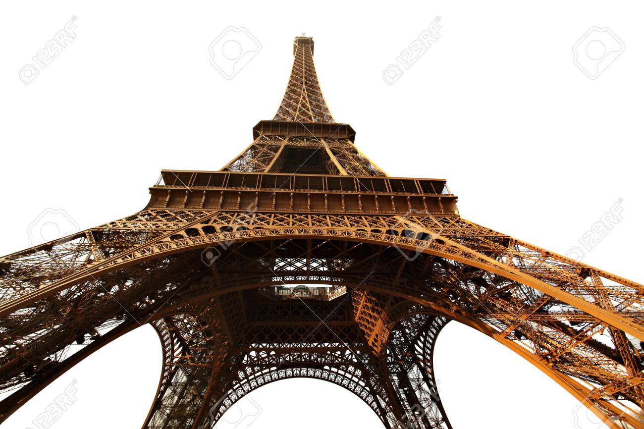 Eiffel tower isolated over the white background, Paris, France. Stock Photo - 9709419