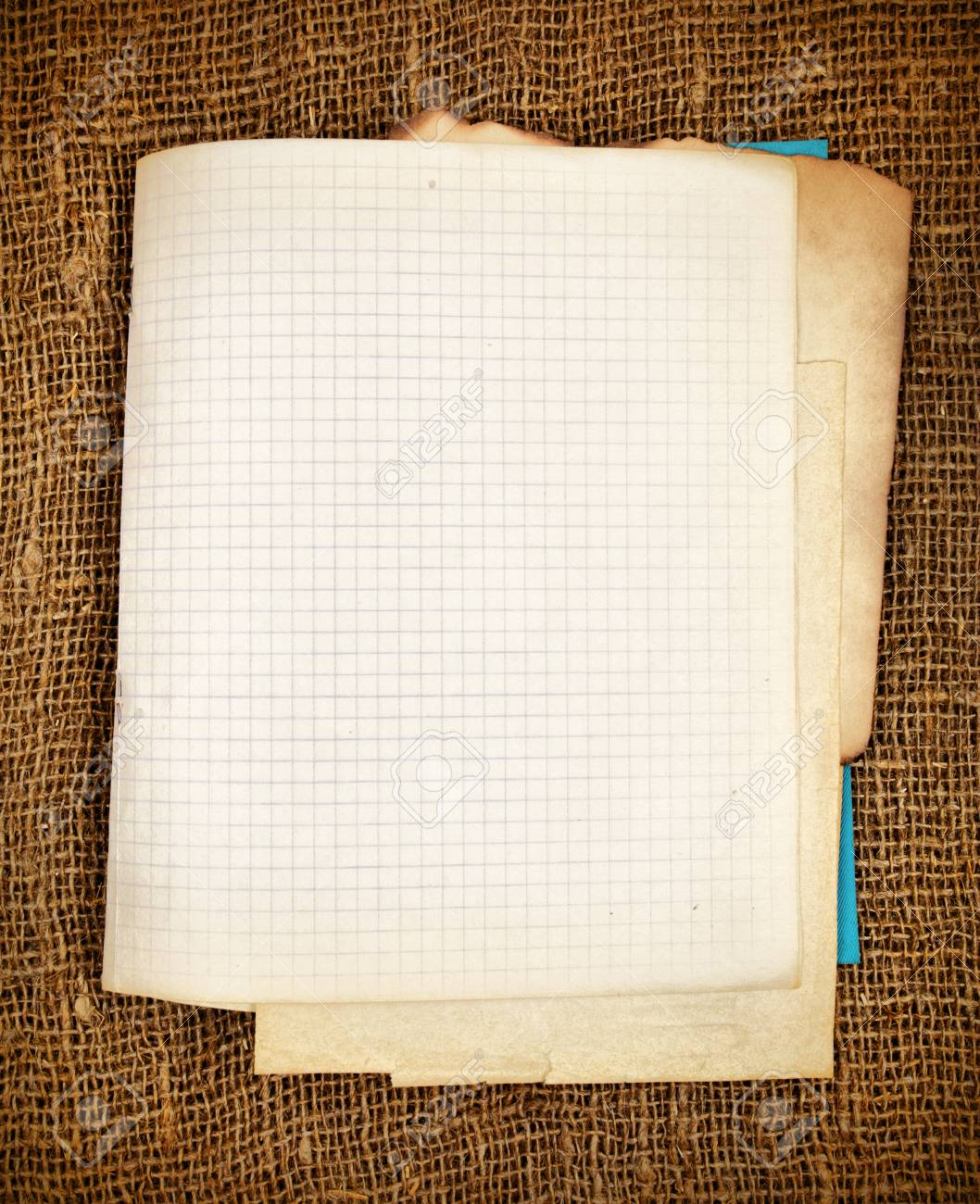 old blank copy book close up sepia toned stock photo picture and