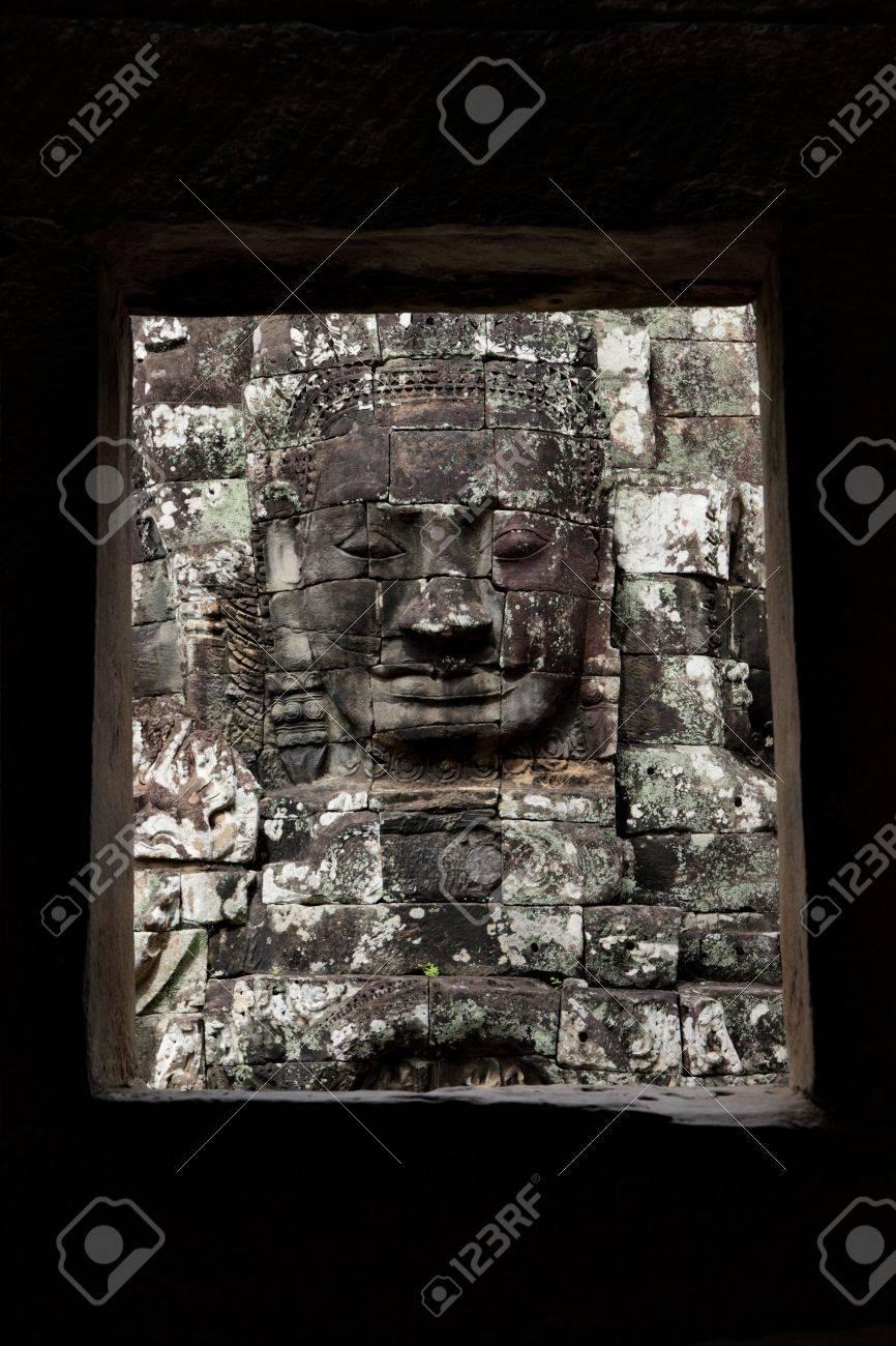Face of Buddha at Bayon temple, Angkor, Cambodia Stock Photo - 11899162
