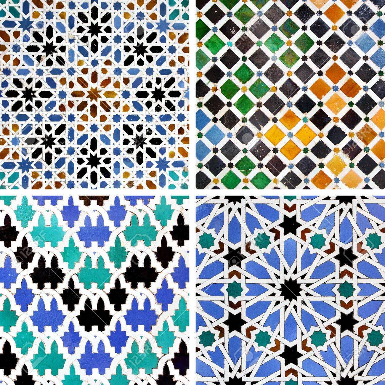 Ancient moorish ceramic tiles with pattern stock photo picture ancient moorish ceramic tiles with pattern stock photo 19911186 dailygadgetfo Choice Image