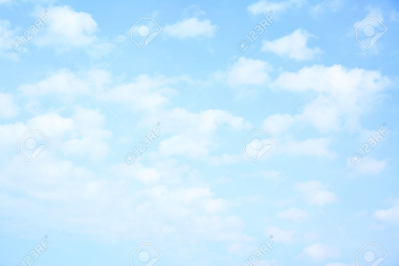 Light Blue Sky With Clouds May Be Used As Background Stock Photo